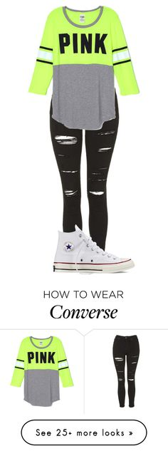"""""""Casual Day"""" by totaltomboyelc on Polyvore featuring Topshop and Converse"""