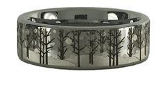 The ultimate ring for anyone who loves the outdoors! If you find beauty in bare trees and freshly fallen snow then this ring is for you. Camo Wedding Rings, Bare Tree, Winter Trees, Tungsten Carbide, Laser Engraving, The Great Outdoors, Gadgets, Scene, Snow