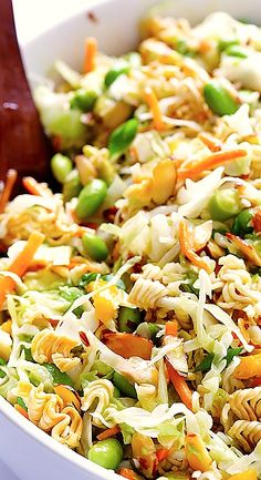 Crunchy Asian Ramen Noodle Salad