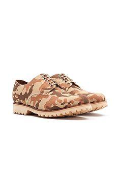 The Finton Shoe in Desert Camo by Grenson
