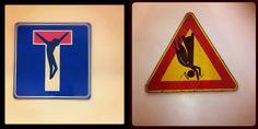 I cartelli stradali rivisitati dell'artista Clet Abraham