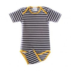 L'asticot - Body à rayures blanches-marines L'Asticot - Mode bébé, futures mamans, cadeaux de naissance