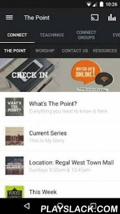 The Point Knox  Android App - playslack.com ,  Welcome to the official The Point Knox application for the Android.Check out the sermon series, Bible reading plans, connection book, events, and more. After you've downloaded and enjoyed the content, you can share it with your friends via Twitter, Facebook, or email.It is our prayer that you find this app a valuable resource in your walk with Christ.WiFi internet is required for iPod touch.For more information about The Point, please…