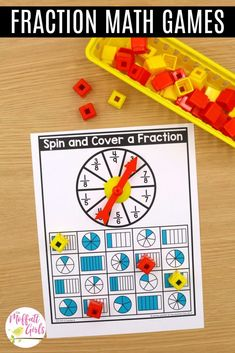Math Fraction Games, Fraction Word Problems, Math Games, 3rd Grade Fractions, Third Grade Math, Math Fractions, Core Learning, Daily Lesson Plan, Daily Math