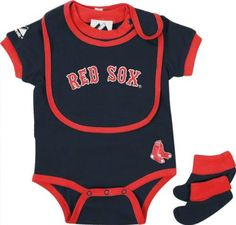 Boston Red Sox - Baby Bib and Bootie Creeper Set