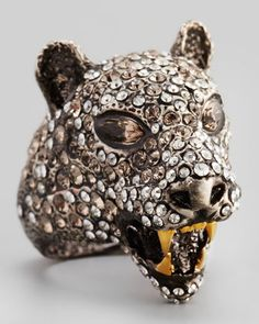Cordova Jaguar Ring by Alexis Bittar at Neiman Marcus. Very fierce kitty
