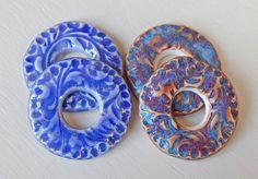 4 connectors By Mª Carmen Rodriguez https://www.facebook.com/groups/CeramicArtBeadMarket