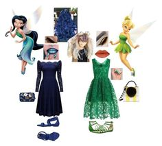 """""""Silvermist and Tinkerbell- Party"""" by batgirl-at-the-walking-dead3 ❤ liked on Polyvore featuring Fathead, WithChic, Nannini, Nine West, Gucci and Les Petits Joueurs"""
