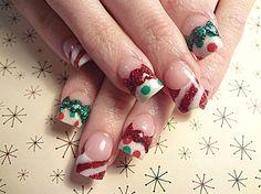 Christmas bows - Nail Art Gallery by nailsmag.com