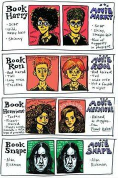 Ha ha! Book Snape and movie Snape are both Alan Rickman!!