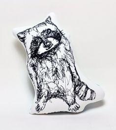 Raccoon Thread Drawing- Plushie