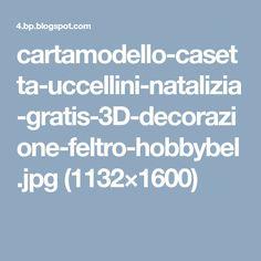 cartamodello-casetta-uccellini-natalizia-gratis-3D-decorazione-feltro-hobbybel.jpg (1132×1600)