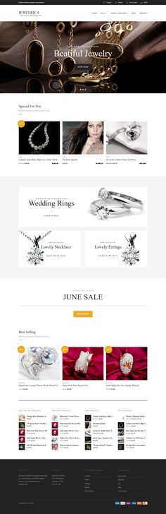 Buy Jewelrica - eCommerce WordPress Theme by tokopress on ThemeForest. About Jewelrica Jewelrica is another WooCommerce WordPress Theme from TokoPress to help you building your online sto. Premium Wordpress Themes, Wordpress Plugins, Ecommerce, How To Get Better, Website Development Company, Logo Design, Shopping, Jewelry, Blogging