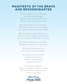 Manifesto of the Brave & Brokenhearted: The Rising Strong, Brene Brown