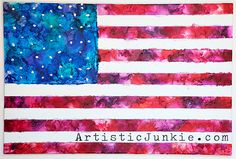 Taking melted crayon art to a whole new level! Learn how to make it yourself with this step by step tutorial so you too, can have to coolest Fourth of July decoration for your celebration! Diy Crayons, Melting Crayons, Diy Arts And Crafts, Fun Crafts, Crayon Art, Crayon Crafts, Crafty Craft, Crafting, Diy Wall Art