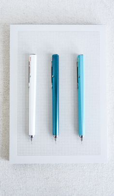 needle point click pens, made in Japan