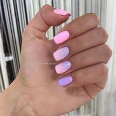 Nastya Dorovskih Pink Nail Designs, Cool Nail Designs, Easter Nails, Powder Nails, Nails 2018, Nail Envy, Cute Nail Art, Summer Nails, Nail Inspo