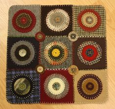 Free Wool Penny Rug Patterns   Wool Penny Rug   Ashton Publications