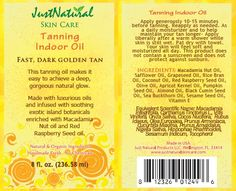 TANNING Nutritive Tanning Indoor Oil - Helps & Support Skin