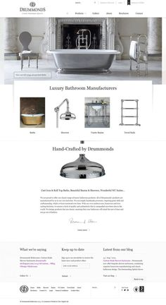 Luxury Bathrooms from Drummonds - Classic Handmade Quality - Webdesign inspiration www.niceoneilike.com