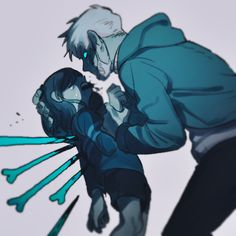 Genocide! Frisk/Chara and Human!/Genocide! Sans | Artist Bam to Nuts (Bamto)