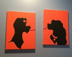 Disney's Lady and the Tramp Silhouette Canvas Set canvas art Disney lady and the tramp Disney Canvas Paintings, Disney Canvas Art, Small Canvas Art, Mini Canvas Art, Disney Art, Painting Canvas, Disney Drawings, Art Drawings, Pinturas Disney