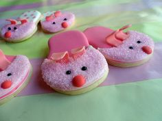 Bunny Slippers Cookies ~ cute for a sleepover party
