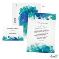 wedding invitations sea glass watercolor - Google Search