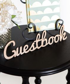 Another great find on #zulily! Laser Cut 'Guestbook' Block by Z Create Design #zulilyfinds