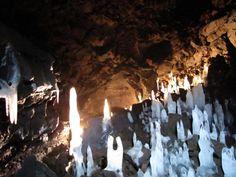 Ice Elf City in Vidgelmir lava cave. Fljotstunga, Iceland.