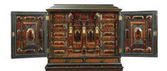 Flemish 17th tortoiseshell rosewood ebony and ebonised cabinet