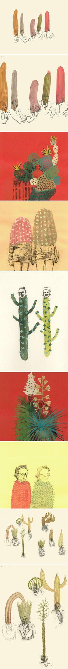 ARTE: I post-it dipinti di Ashley Mistriel | Cactus e fiori in... - Osso Magazine