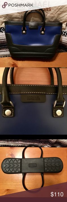 ⚫️🔵 Michael Kors 🔵⚫️ 🔵 Awesome MK Welly! 🔵 Lots of Room! 🔵.            🔵 Last 2 pics show the only signs of wear! 🔵.          ⚫️1 scuff mark on top black trim on back of bag⚫️.   ⚫️ 1 'rubbed' area on top of bag {pic 7} ⚫️                   🔵 You will love this MK! Color is very nice! 🔵           ⚫️ No Trades ⚫️ 🔷 Bundle and Offer! 🔷 Michael Kors Bags Satchels