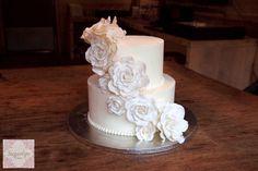 White Wedding  Cake by SugarlipsCakes