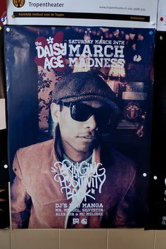 MARCH MADNESS DAISY AGE by Posters in Amsterdam by Jarr Geerligs, via Flickr