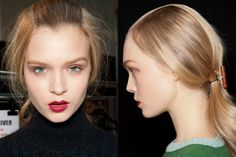 slicked back center hairstyle - Rochas