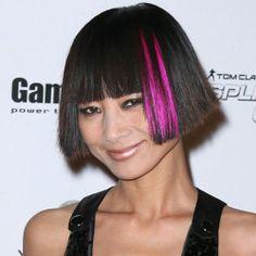 Short Black Hair With Highlights #Highlights #Hair #HairColors #Short