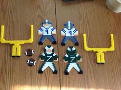 Perler bead football Eagles and Cowboys