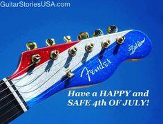 Happy Independence Day!!! #4thofjuly #independenceday #buckowens #electricguitar #guitar #fender #fendertelecaster #redwhiteandblue #guitarstoriesus
