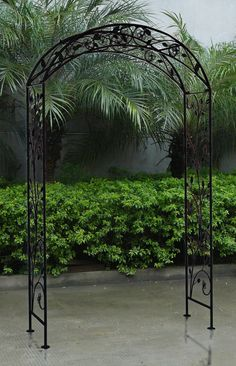 Orleans Wrought Iron Garden Arbor Wrought iron Arbors and