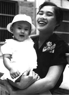 Her Majesty Queen Sirikit Of Thailand and Princess Sirindorn