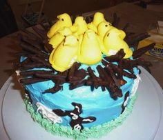 Adorable Peep Cake.