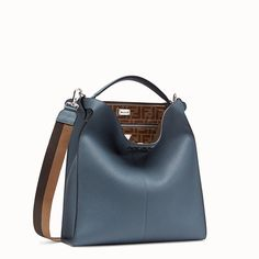 Slim tote bag distinguished by a rigid panel on the back and a soft front section with turn-lock fastener. Briefcase handle and an adjustable, detachable sh. Orange Leather, Grey Leather, Calf Leather, Leather Bag, Shoulder Strap, Shoulder Bags, Briefcase, Calves