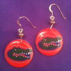 Licensed Collegiate Earrings  Univ of Florida by AnnPedenJewelry, $14.99