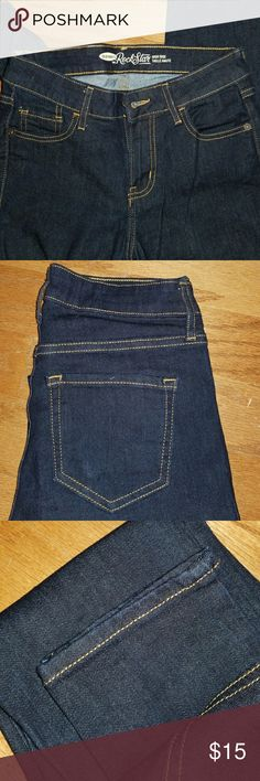 Old navy high rise rock stars Old navy rock star fit (skinny) size 2 petite, never worn Old Navy Jeans Skinny
