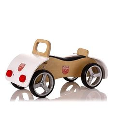 Sale Natural & White Woody Kuruma Ride-On by Pedal Power