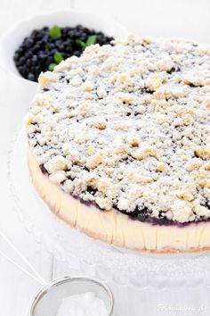 Blueberry Crumble Cheesecake.