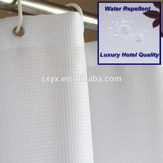Check out this product on Alibaba.com App:Luxury Hotel Quality Waffle Shower Curtain Water Repellent Polyester Bathroom Curtain 72x72 inch white https://m.alibaba.com/qqQ3mm
