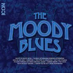 The Moody Blues classic songs are now available in the ICON series. Artist: The Moody Blues. The Story in Your Eyes. Ride My See-Saw. 70s Music, I Love Music, Kinds Of Music, Good Music, Classic Rock Albums, Classic Songs, Nights In White Satin, Rock Album Covers, Rhapsody In Blue