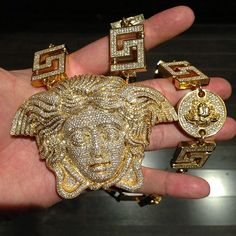 Tyga's Versace Medusa Chain made by Jason of Beverly Hills ...